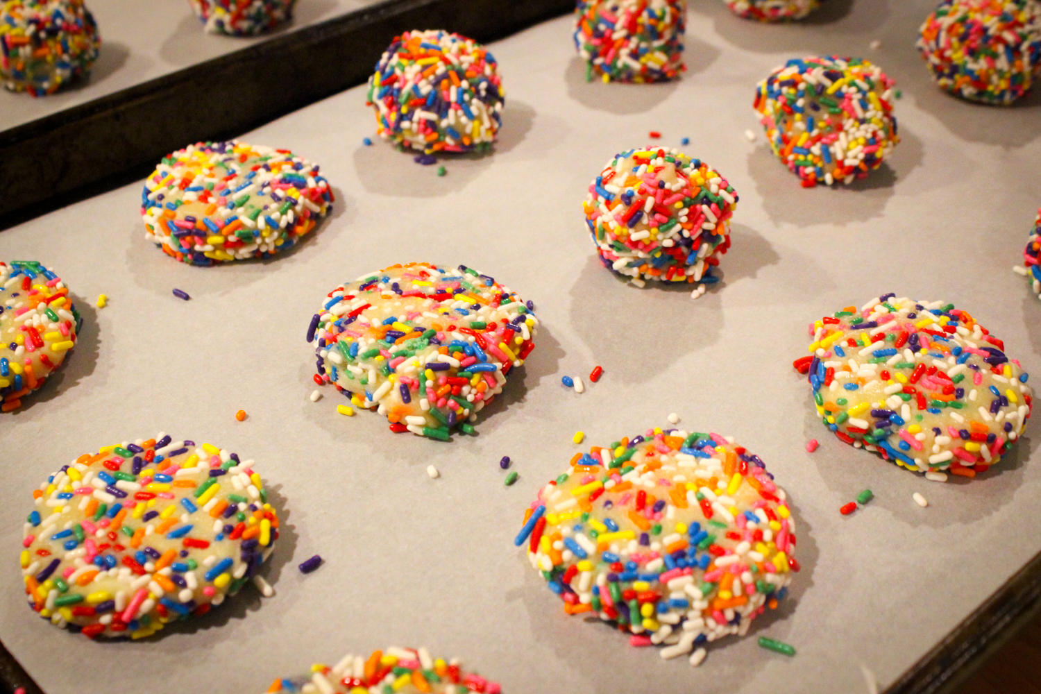 Baking Confetti Cookies