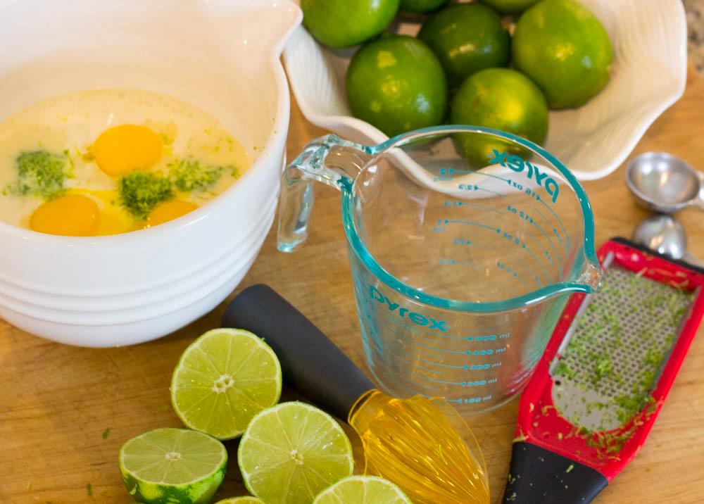 Key Lime Pie Baking Process