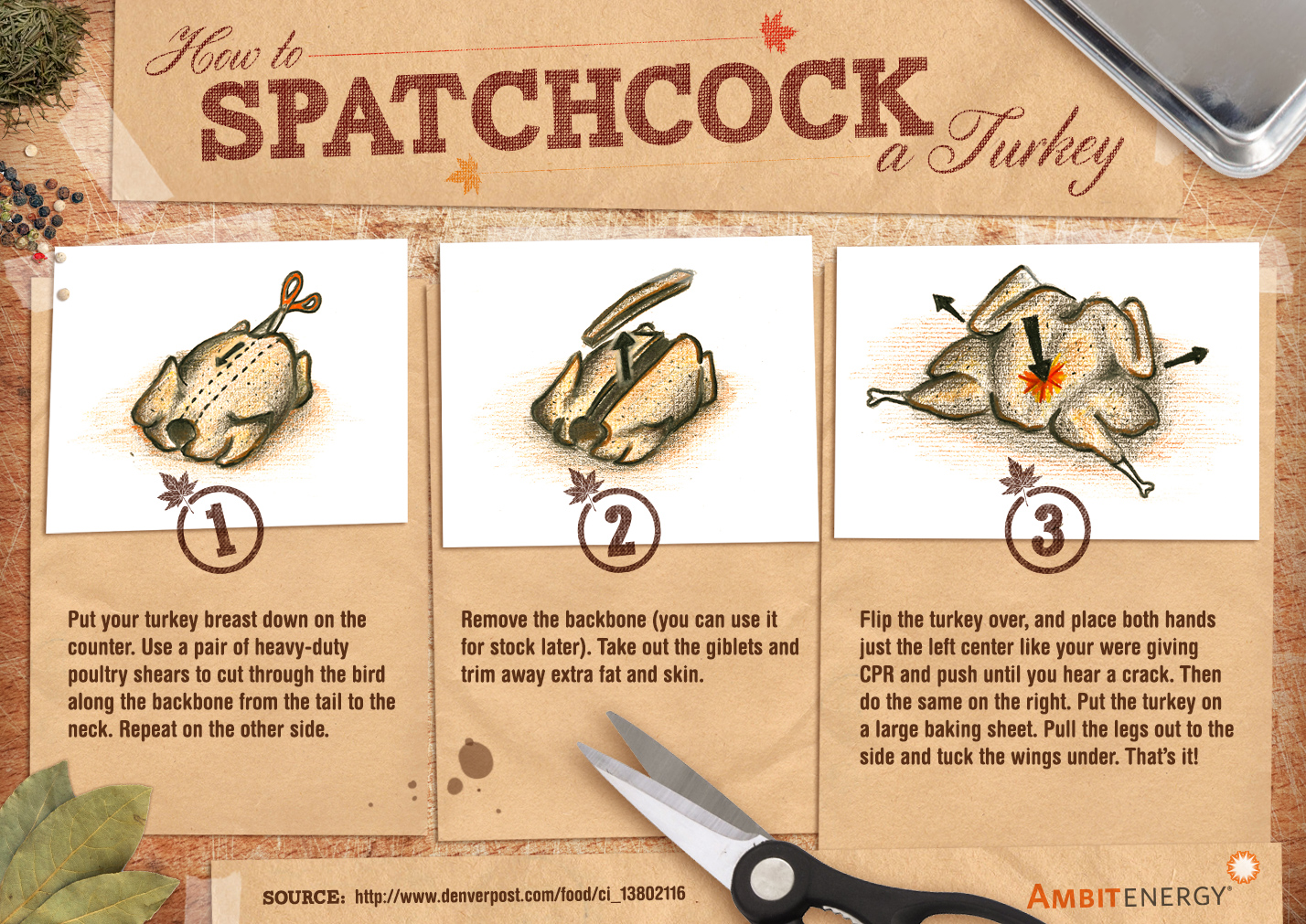Infographic: Trim Cooking Times by Spatchcocking Your Turkey