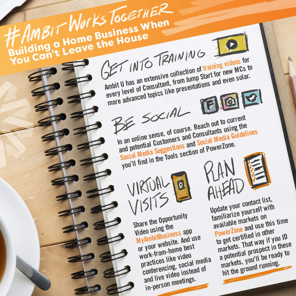Infographic: Powerful Tips for Working from Home from Ambit Energy