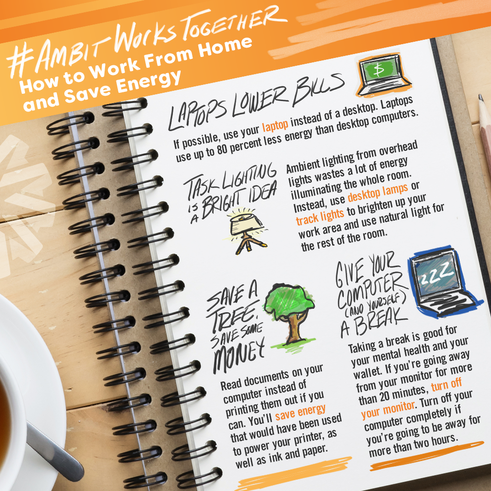 Infographic: How to Work from Home and Save Energy